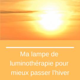 Ma lampe de luminothérapie
